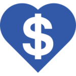Heart Icon with Dollar Symbol inside